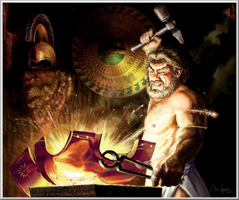 what is hephaestus typically the jesus of
